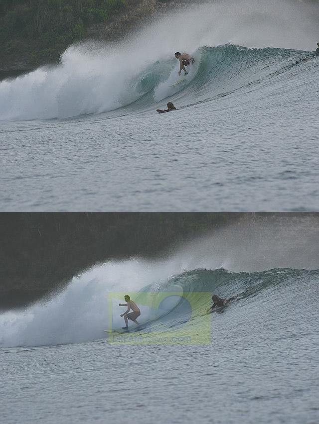 Wes surfing at Balangan