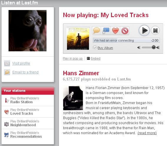 My last FM homepage